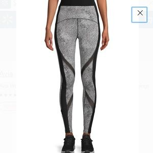 Avia Active Performance Leggings Jacquard White S